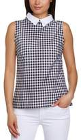 Motel Women's Carys Checkered Crew Neck Sleeveless Tank Top