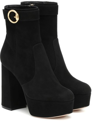 Gianvito Rossi Jackson suede ankle boots