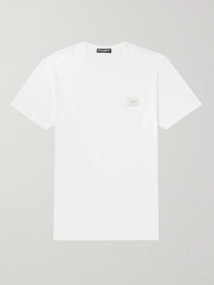 Dolce & Gabbana Slim-Fit Logo-Appliqued Cotton-Jersey T-Shirt - Men