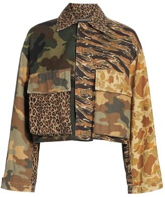 R 13 Abu Cropped Camo Jacket