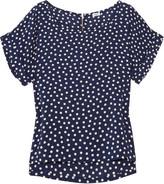 Polka-dot voile blouse