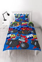 Blaze and the Monster Machines 'ZOOM' Single Duvet Bedding Set - Repetitive Print Design