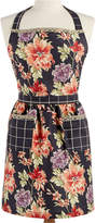 Martha Stewart Collection Dark Ground Floral-Print Apron, Created for Macy's