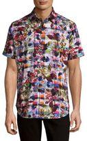 Robert Graham Floral Cotton Casual Button-Down Shirt