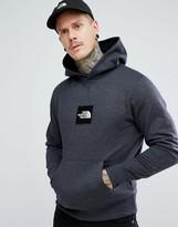 The North Face Fine Overhead Hoodie Box Logo In Dark Grey Marl