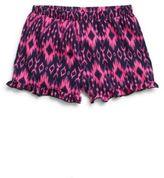 Pinc Premium Girl's Ruffle Hem Ikat Short