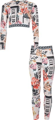 River Island Girls light Pink 'Couture' crop top outfit