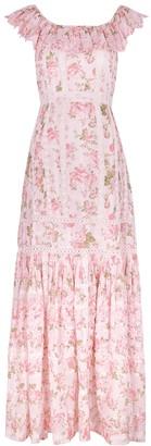 LoveShackFancy Niko Floral-print Cotton Maxi Dress