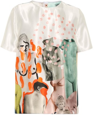 Marni Printed satin T-shirt