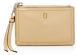 Marc Jacobs Softshot Leather Top Zip Wallet