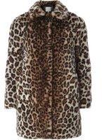 Dorothy Perkins Womens Petite Leopard Faux Fur Coat- Leopard