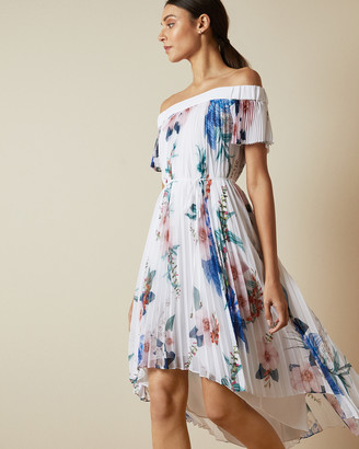 Ted Baker LUNER Jamboree pleated off the shoulder dress