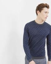 Ted Baker Geo design crew neck sweater