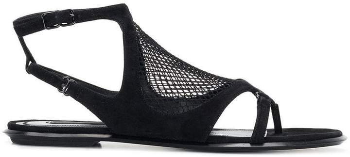 Alexander Wang netted panel sandals