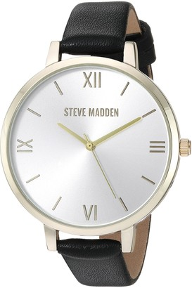 Steve Madden Women's Quartz Watch with Leather-Synthetic Strap