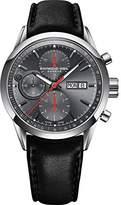 Raymond Weil Men's Freelancer 42mm Black Genuine Leather Band Steel Case Automatic Watch 7730-STC-60112