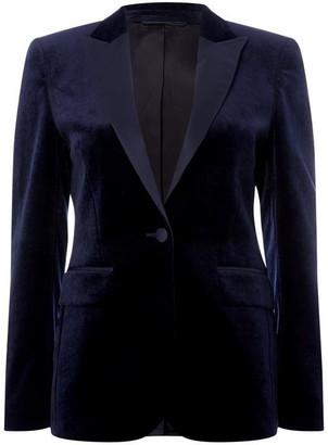 Gant Jkt Velvet Tuxedo Bl Navy 8