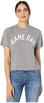 Original Retro Brand The Game Day Mocktwist Slightly Cropped T-Shirt (Heather Grey) Women's Clothing