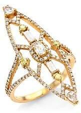 Bavna Women's 18K Rose Gold & Diamond Cocktail Ring
