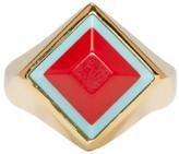 Fendi Gold Rainbow Ring