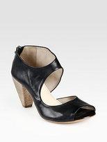 Elisanero Cutout Leather Sandals