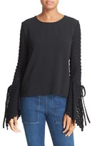 See by Chloe Women's Knit Bell Sleeve Top