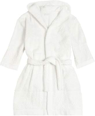 La Perla COTTON TERRYCLOTH & LACE BATHROBE