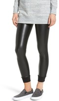 David Lerner Women's Cuffed Faux Leather Leggings