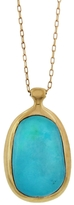 Ten Thousand Things Large Organic Turquoise Pendant Necklace