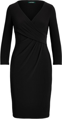 Ralph Lauren Wrap-Front Jersey Dress