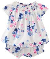 Osh Kosh Baby Girl Floral Smocked Top & Bloomers