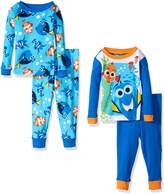 Disney Toddler Boys' Finding Dory 4-Piece Cotton Pajama Set