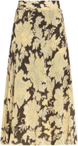 Paul & Joe Floral Print Mid Length Skirt