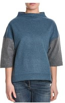 Eleventy Women's Blue/grey Wool Sweatshirt.
