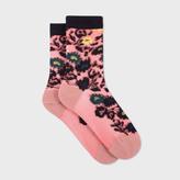 Paul Smith Women's Pink Semi-Sheer 'Ailis Floral' Socks