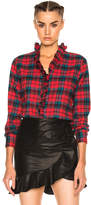 Etoile Isabel Marant Awendy Ruffled Check Shirt