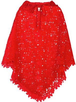 Bambah Lace Crochet Poncho
