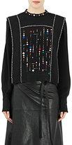 Isabel Marant Women's Embellished Fawna Top-BLACK