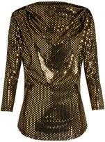 Vivienne Westwood Amber draped laminated-print jersey top