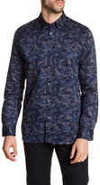 Ted Baker Long Sleeve Print Sport Shirt