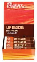 Desert Essence Lip Rescue Display Case, Jojoba and Aloe, 0.15 Ounce