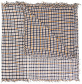 Undercover checked frayed scarf