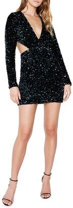 Bardot Jenny Long Sleeve Sequin Minidress