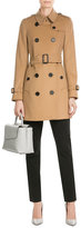 Burberry Kensington Wool Trench Coat with Cashmere