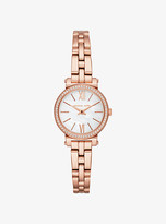 Michael Kors Petite Sofie Pave Rose Gold-Tone Watch