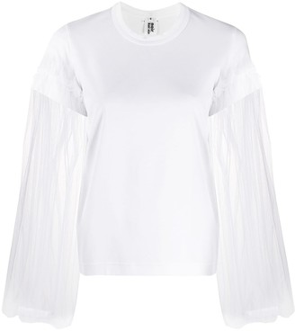 Comme des Garcons tulle sleeve round neck T-shirt