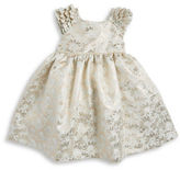 Laura Ashley Baby Girls Jacquard Metallic Dress and Bloomers Set