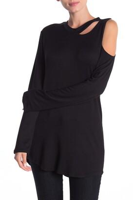 Go Couture Asymmetrical Slash T-Shirt