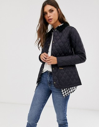 Barbour Annandale diamond quilt jacket with cord collar