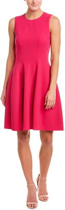 Michael Kors Collection Wool-Blend A-Line Dress